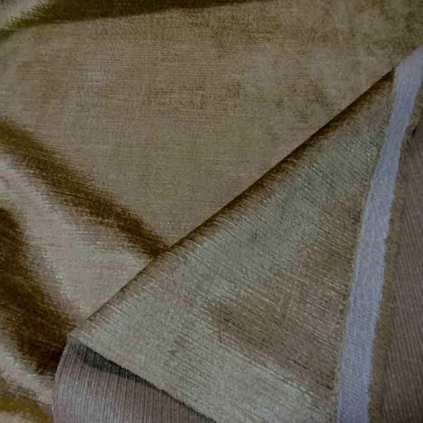 Coupon de velours coton pour l ameublement ton dore 2 4m1