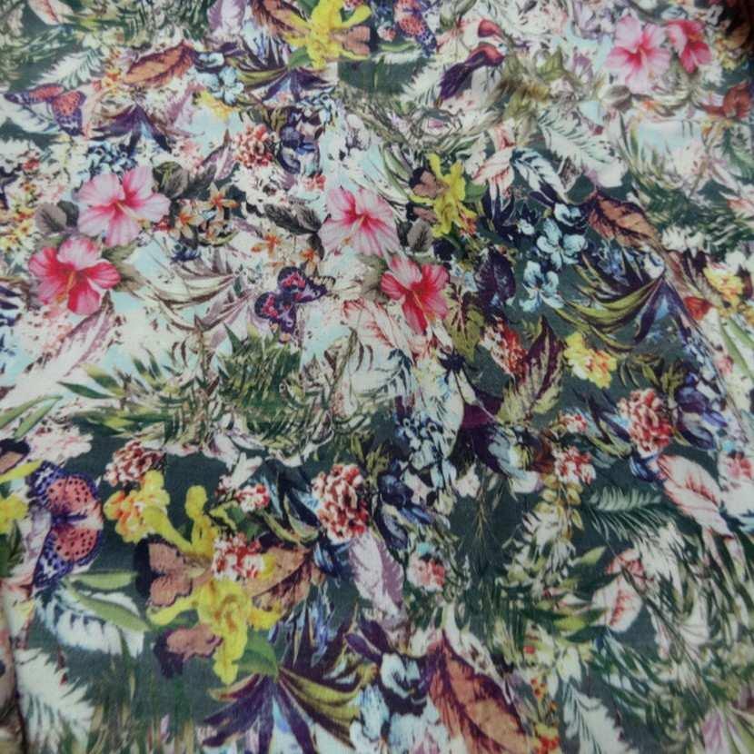 Coupon de viscose imprime fleurs5