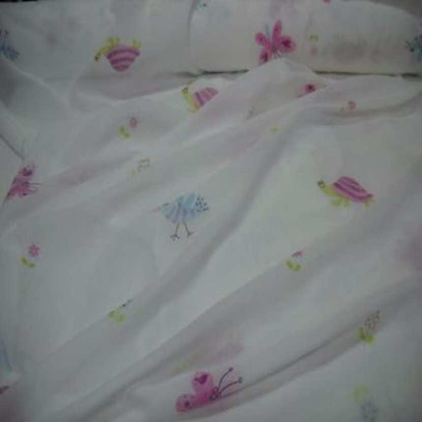 Coupon de voile polyester coton imprime enfant 5m