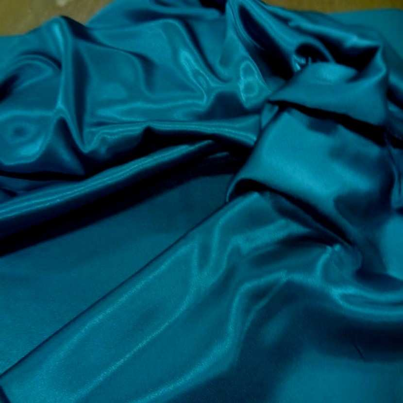 Crepe de satin bleu turquoise3