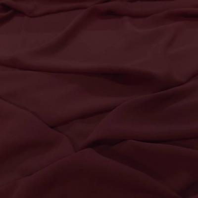 Crepe de soie 100 bordeaux