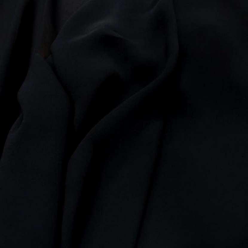Crepe georgette en viscose noir8