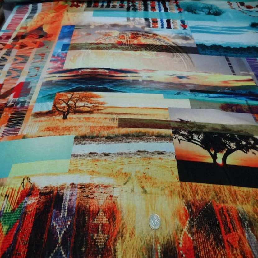 Crepe imprime paysage africain2