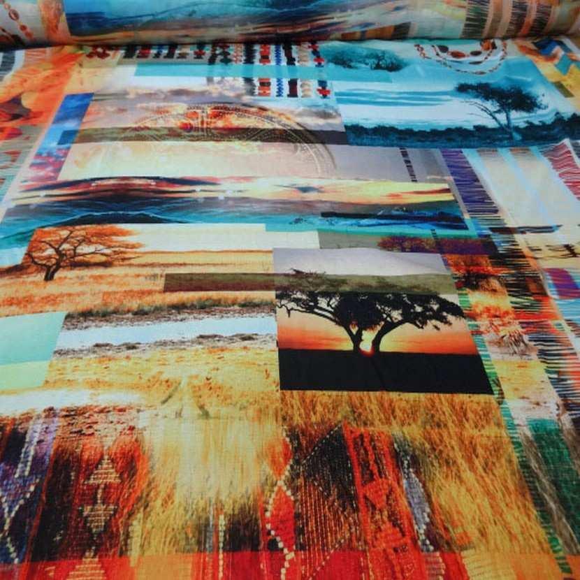 Crepe imprime paysage africain9