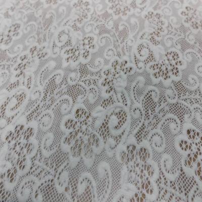 Dentelle de laine melange blanc casse en 1 50m de large