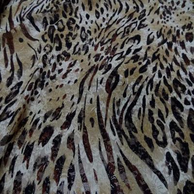 Dentelle lycra imprime leopard