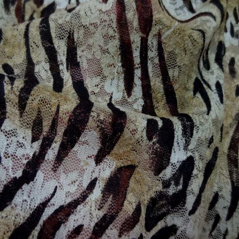 Dentelle lycra imprime leopard2