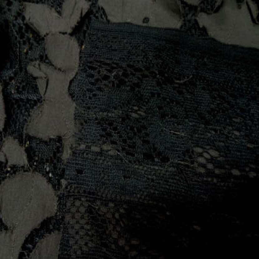 Dentelle marron faconne rajout de tissu en coton marron clair3