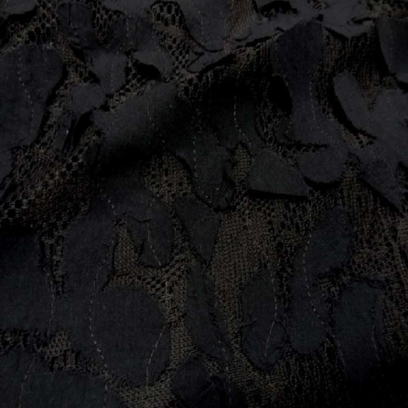 Dentelle marron faconne rajout de tissu en coton1