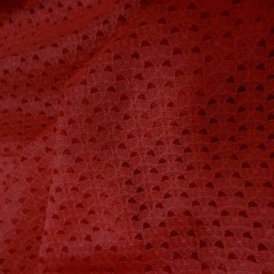 Dentelle resille faconne rouge