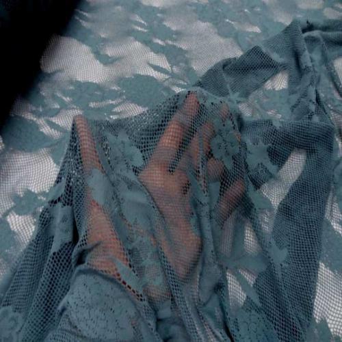 tissu résille lycra extensible dans les 2 sens bleu pétrole