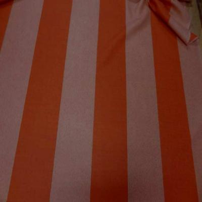 Drap de laine 100 raye orange chine