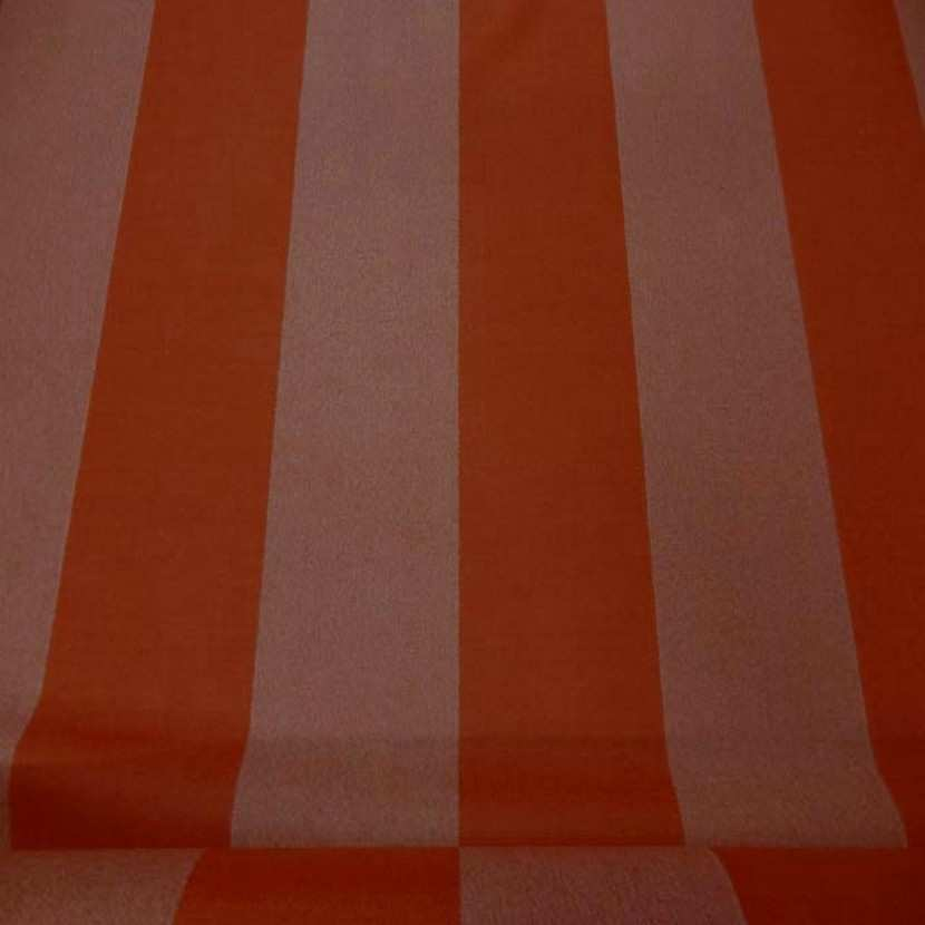 Drap de laine 100 raye orange chine0