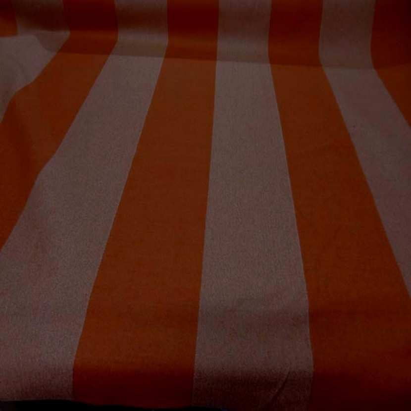 Drap de laine 100 raye orange chine9