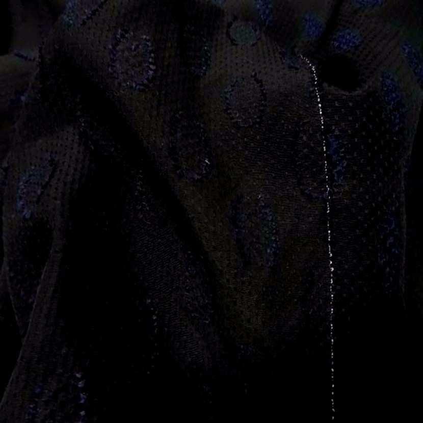 Faconne fin noir en polyamide et soie brode3