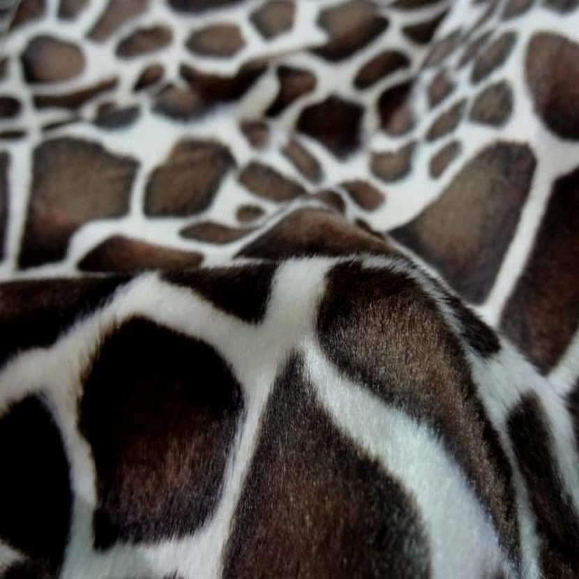 Fausse fourrure girafe7