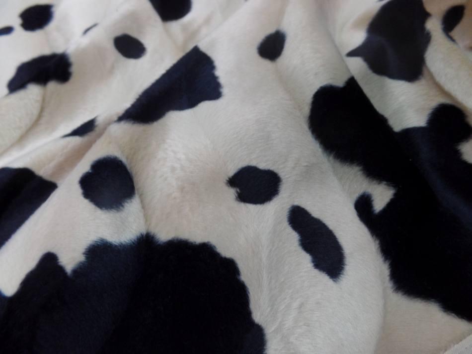 Fausse fourrure imprime vache3