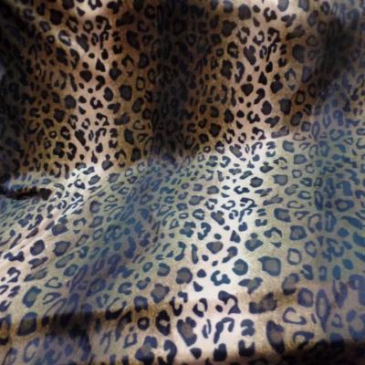 Fausse fourrure leopard marron