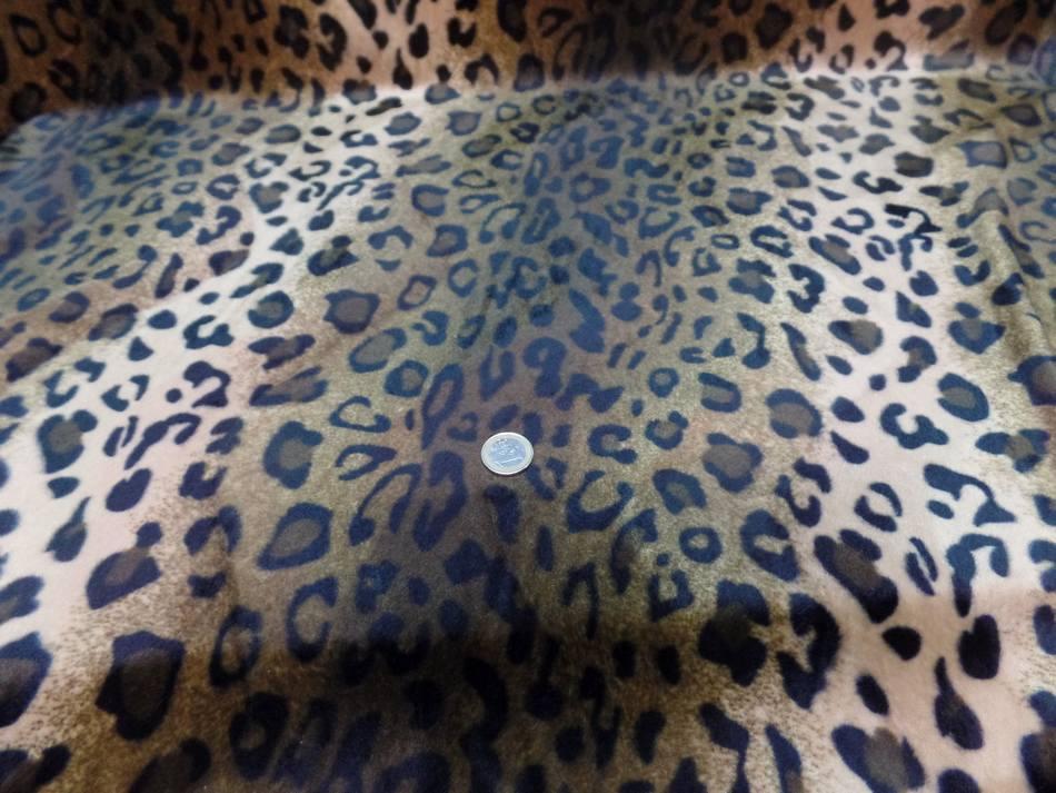 Fausse fourrure leopard marron0