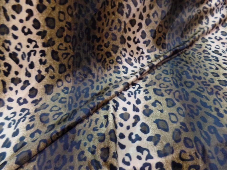Fausse fourrure leopard marron09