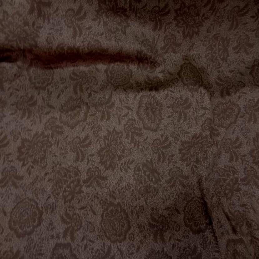 Gabardine coton lycra imprime marron en 1 45 m5