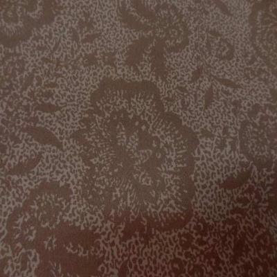 gabardine coton lycra imprimé  marron en 1.45 m