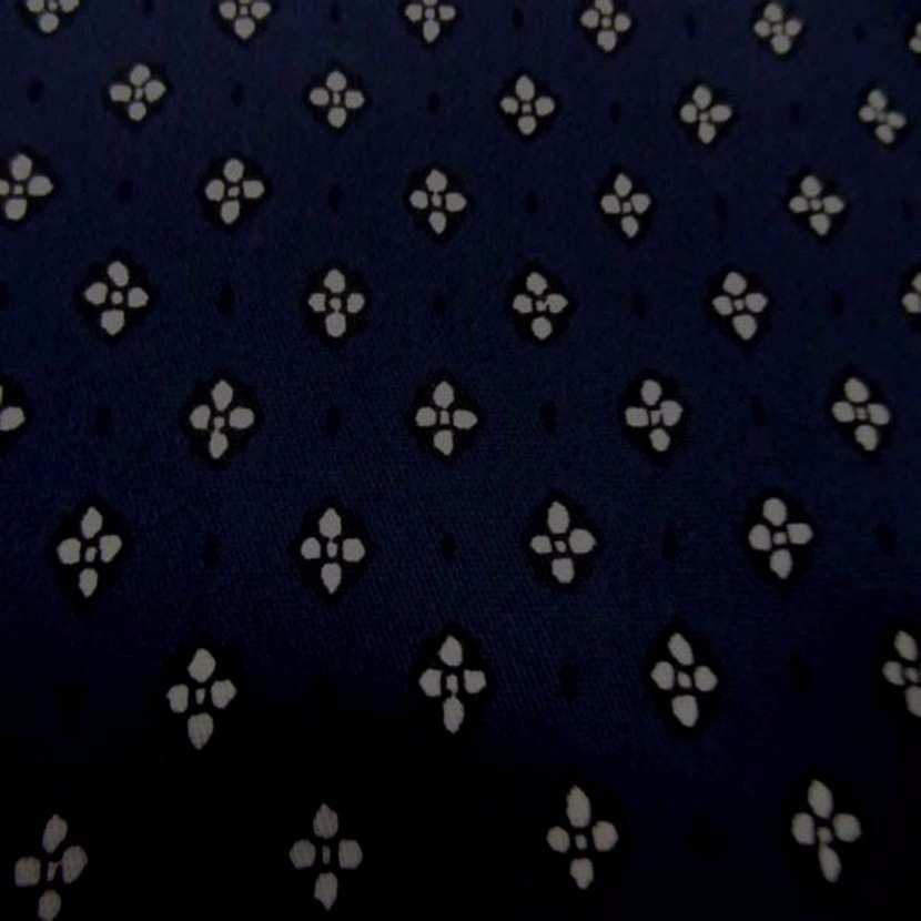 Gabardine coton lycra ton bleu