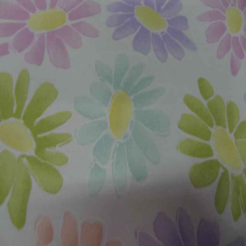 Gabardine lycra en coton blanche imprime fleurs6