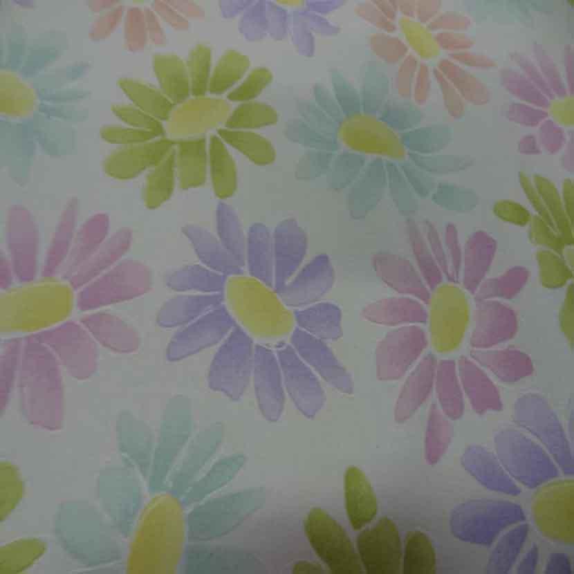 Gabardine lycra en coton blanche imprime fleurs8