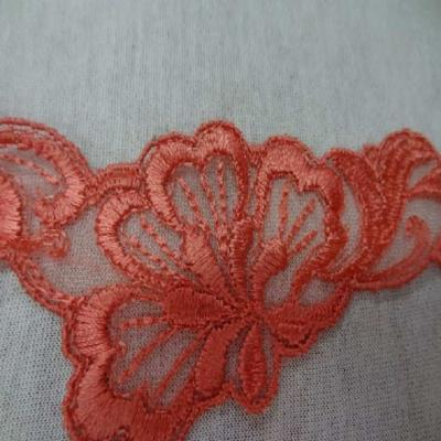 Galon de dentelle corail en 5cm de large