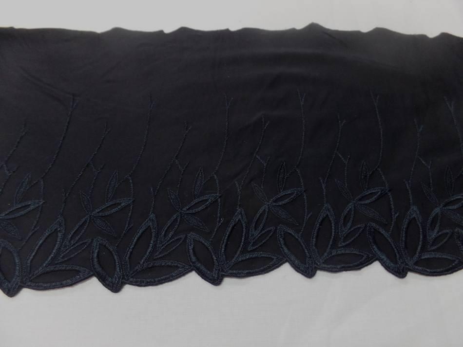 vente de galon de jersey polyester brodé noir en 19cm en ligne