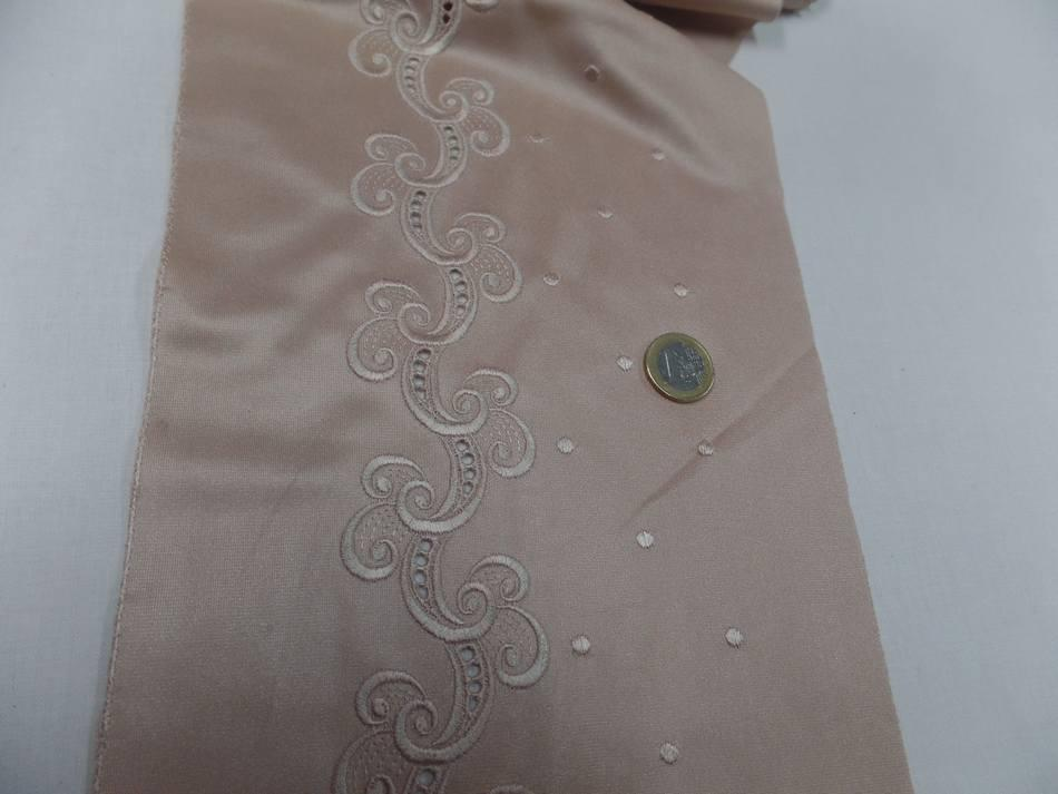 galon de jersey polyester brodé ton beige doré en ligne
