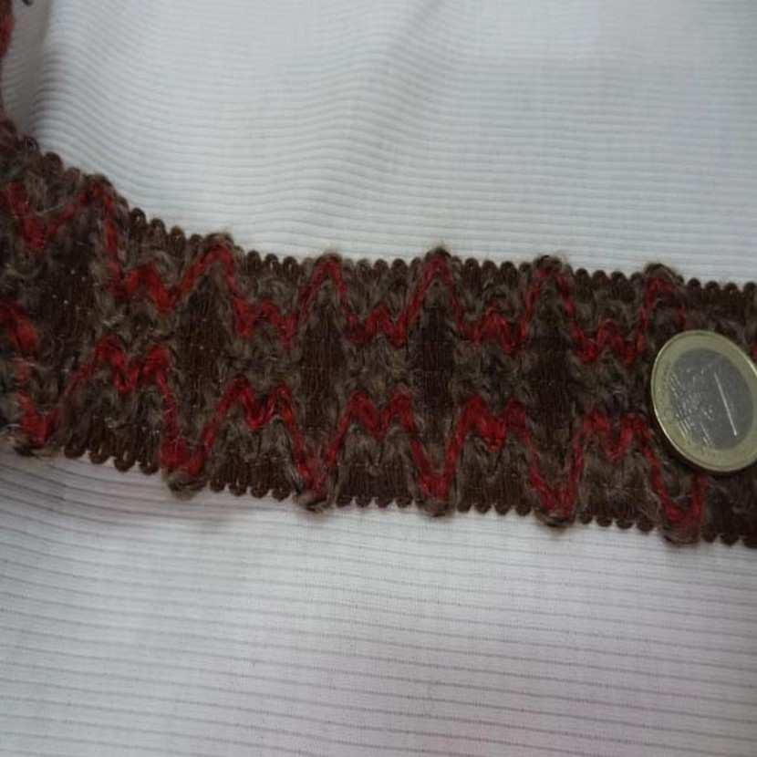 Galon de laine ton marron en 4 5 cm7