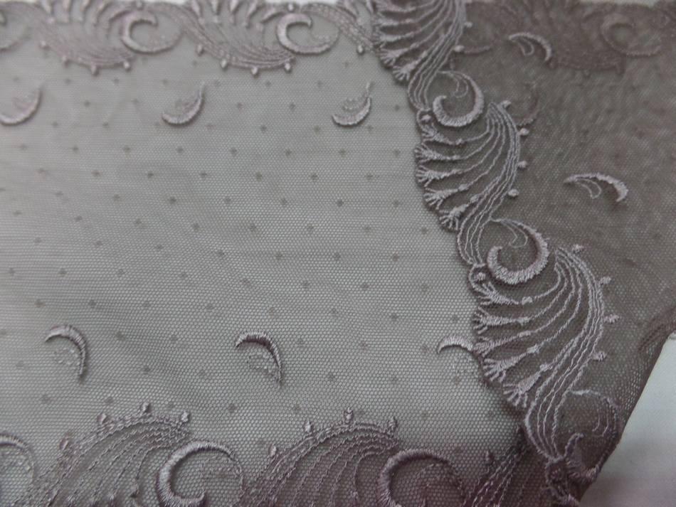 Galon de resille dentelle marron taupe brode en 18cm en ligne