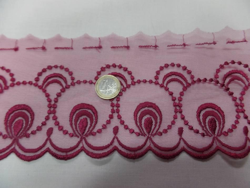 galon de résille dentelle rose en 12cm pas cher en ligne