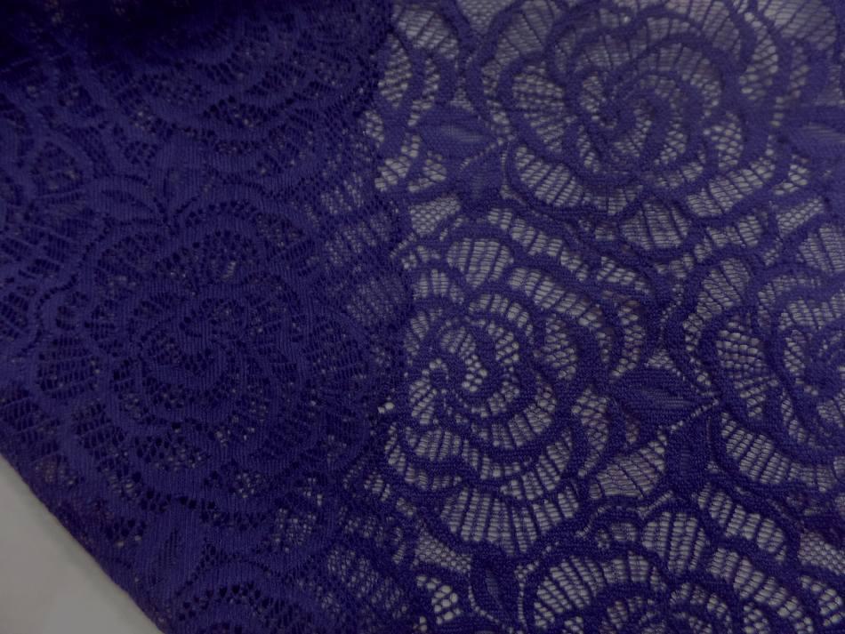 galon de résille façonné bleu indigo pas cher en 22 cm