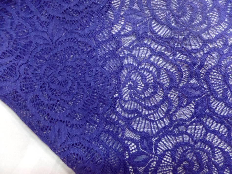 galon de résille façonné bleu indigo
