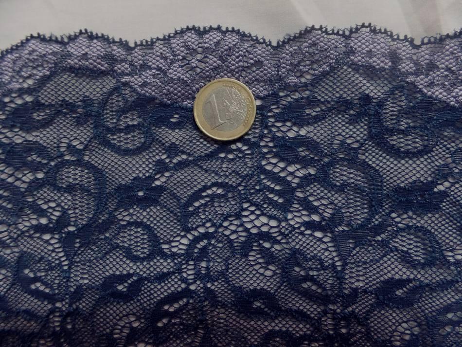 galon de résille façonné ton bleu foncé en 20 cm pas cher