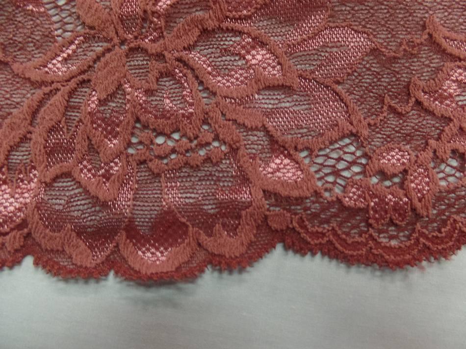 galon de résille façonné ton ocre rose en 15cm