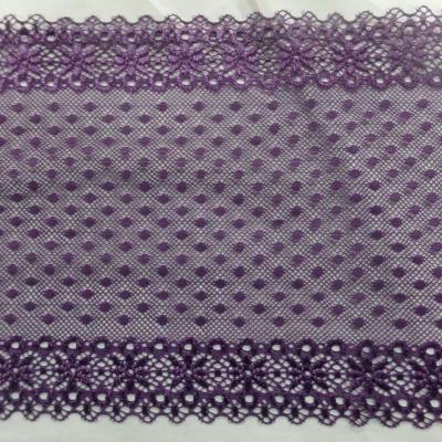 Galon de resille faconne ton violet en 16 cm