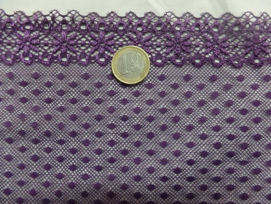 vente de galon de résille façonné ton violet en 16 cm