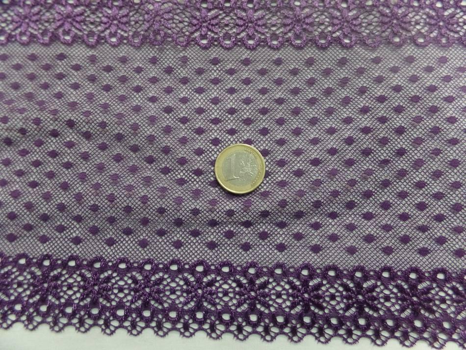 galon de résille façonné ton violet en 16 cm pas cher