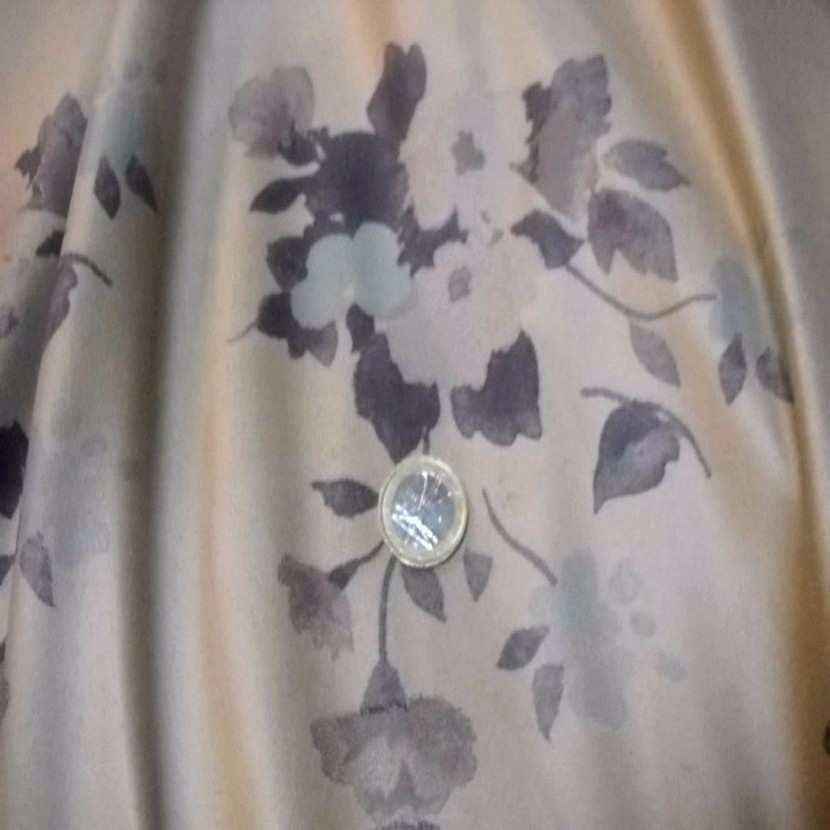 Imitation daim ton beige imprime fleurs6