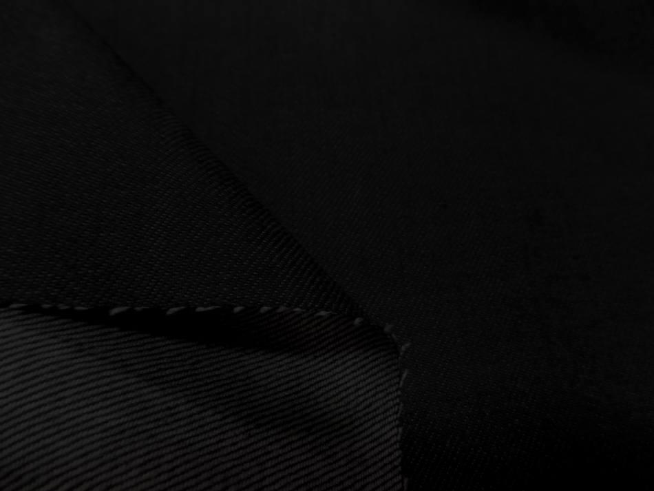 tissu jean enduit extensible noir gris pas cher