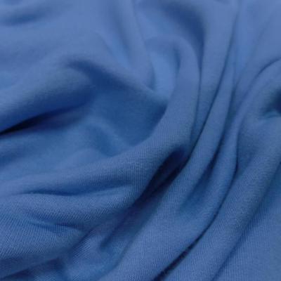 Jersey bien epais bleu en 2m de large