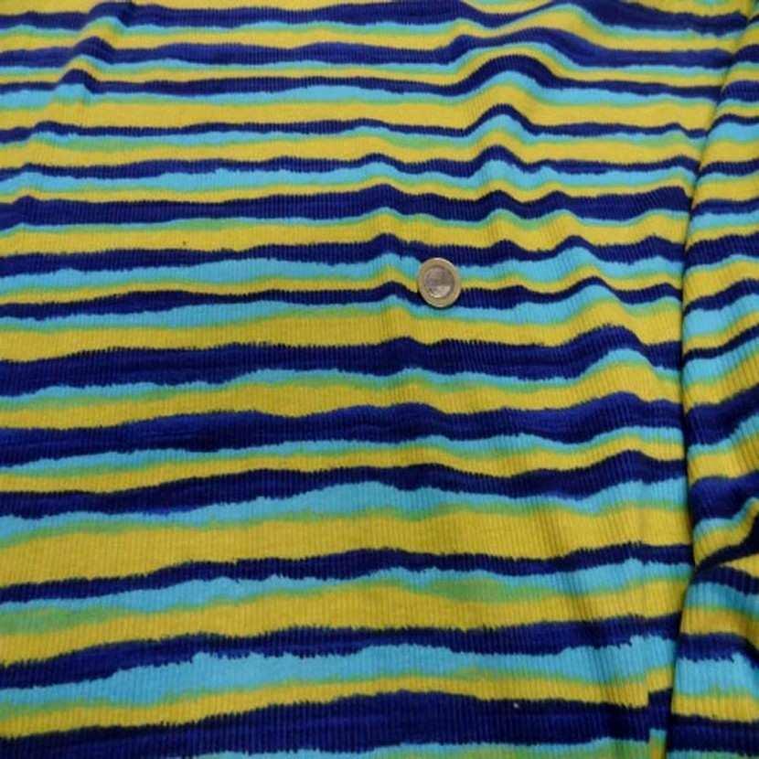 Jersey coton a fine cotes ton jaune bleu1