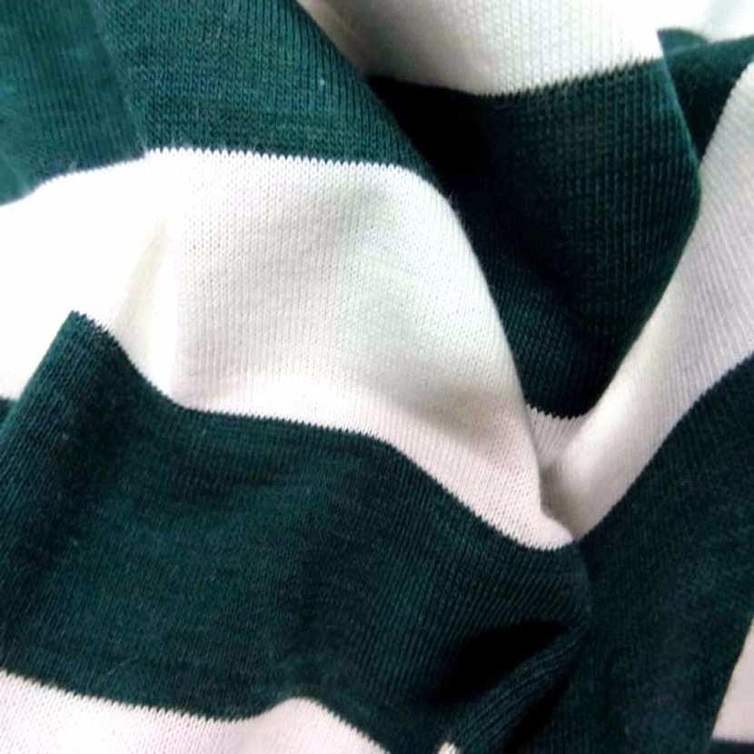 Jersey coton blanc casse raye vert5