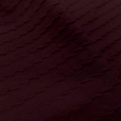 Jersey coton faconne bordeaux