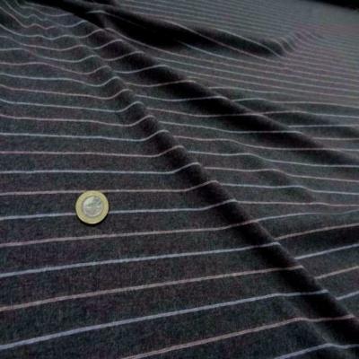Jersey coton gris raye
