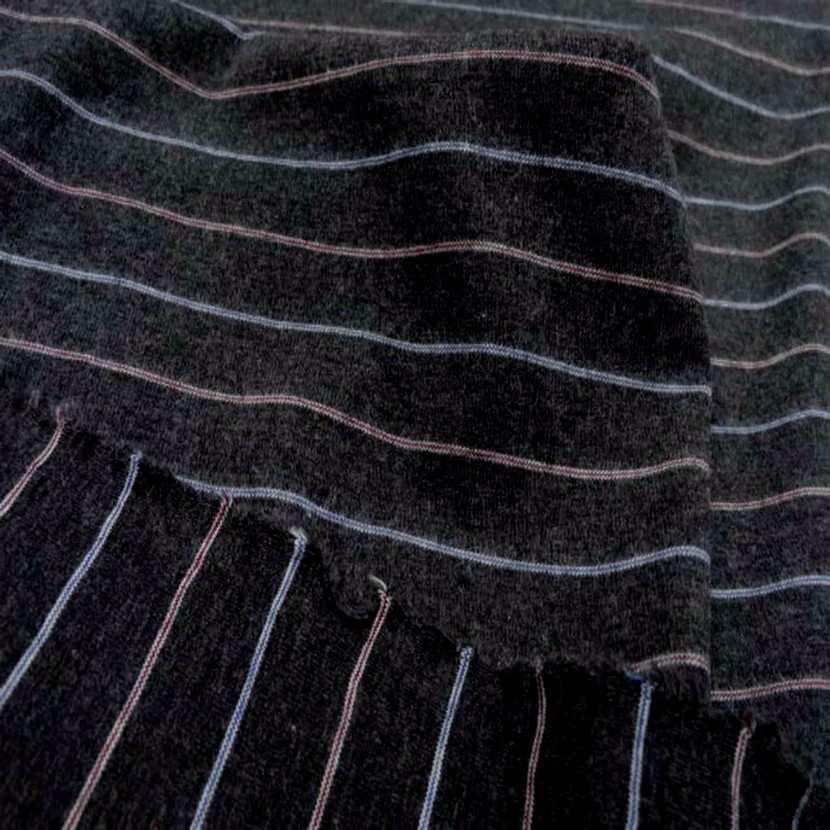Jersey coton gris raye8